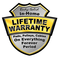 Body Solid Residential Lifetime Warranty
